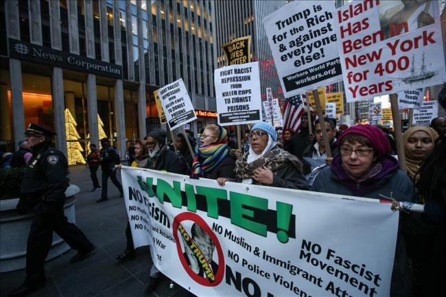 Cumhuriyetçi aday Trump New York'ta protesto edildi