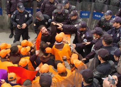 AKP karşıtı eylemde 27 gözaltı