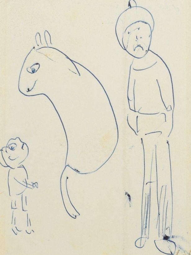 Tükenmez kalemle çizilen eserler 69 bin TL'ye satıldı