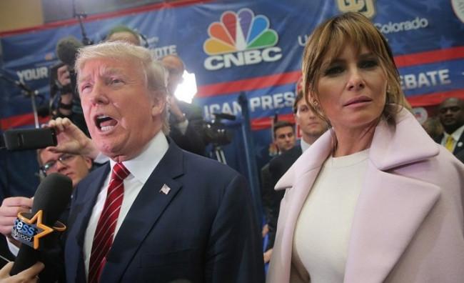 Melania Trump eşine destek oldu