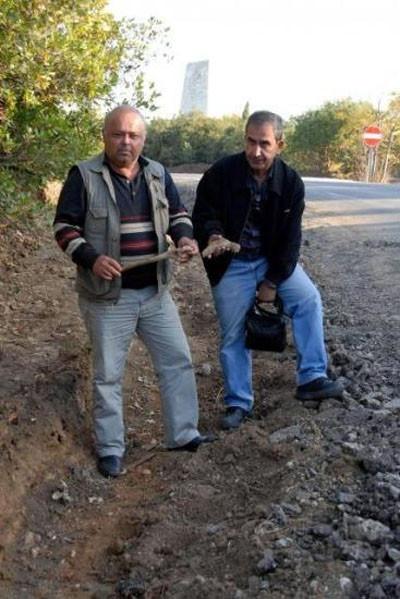 Yol inşaatında şehit kemikleri çıktı