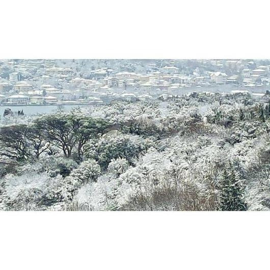 Ünlülerden kar manzaraları