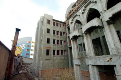 Cami gibi okul inşaatı