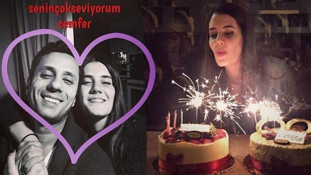 Ferhan Şensoy 27'nci yaşını sevgilisiyle kutladı