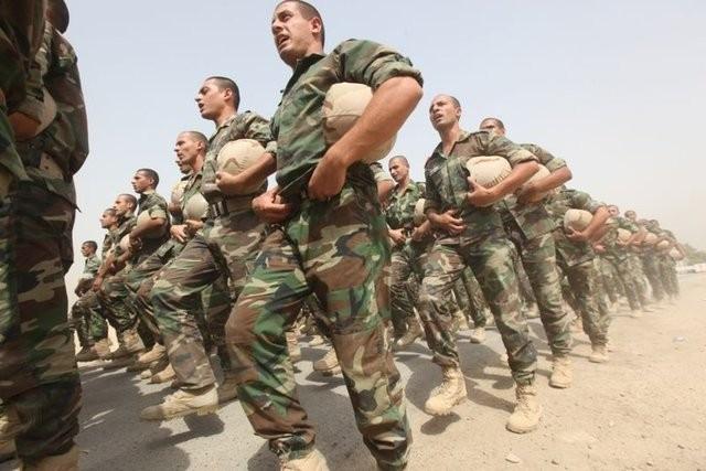 IŞİD'e karşı savaşmak için böyle eğitim görüyorlar !