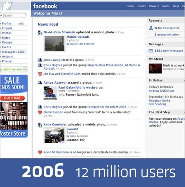 Dünden bugüne Facebook
