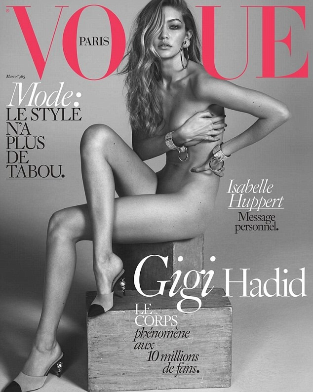 Gigi Hadid Vogue'ye kapak oldu