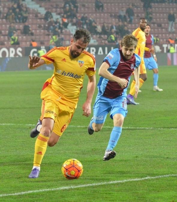 Trabzonspor-Kayserispor maçından kareler