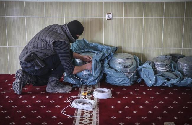 PKK camiye patlayıcı saklamış