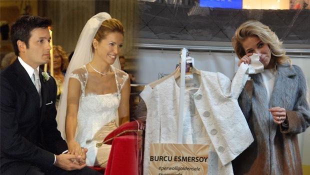 Burcu Esmersoy hayır için nikah kıyafetini sattı