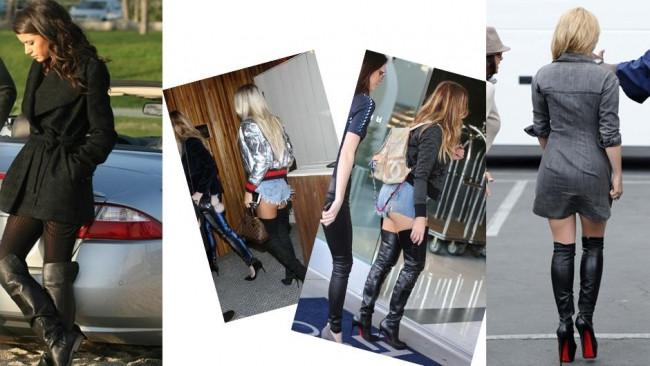 Gösteri dünyasında uzun çizme modası var
