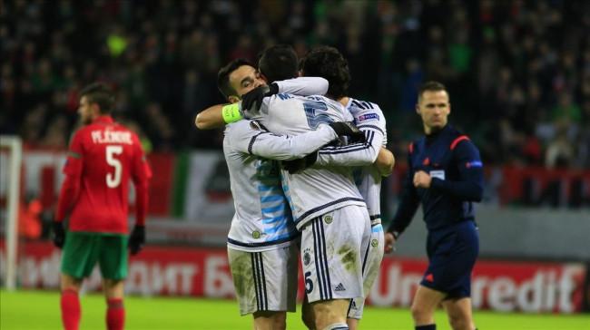 Lokomotiv Moskova-Fenerbahçe maçından kareler