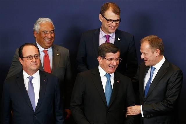 Brüksel'de yüzler gülüyor