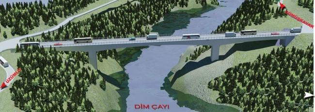 Antalya'da Ak Köprü yükseliyor