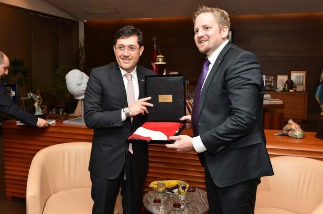 Liberland Cumhurbaşkanı Türkiye'de ilk Hazinedar'ı ziyaret ett