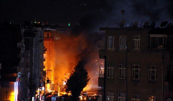 Diyarbakır gece olaylar bitmedi