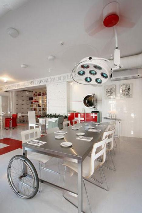 Hastane konseptinde restorant