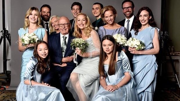Rupert Murdoch ve Jerry Hall'dan düğün fotoğrafı