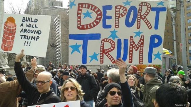 ABD'de Trump karşıtları ayaklandı