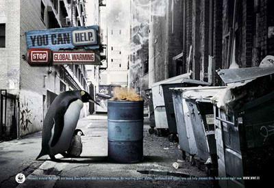 Dünyayı uyaran reklam afişleri