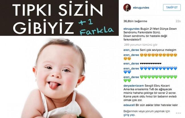 Ebru Gündeş'in paylaşımları olay oldu!