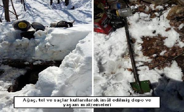 PKK'ya ait 11 depo bulundu