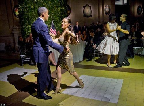 Obama'dan tango şov