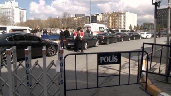Taksim'de Erdoğan hareketliliği