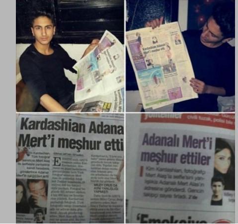 Kardashian Adanalı Mert'i yine meşhur etti !