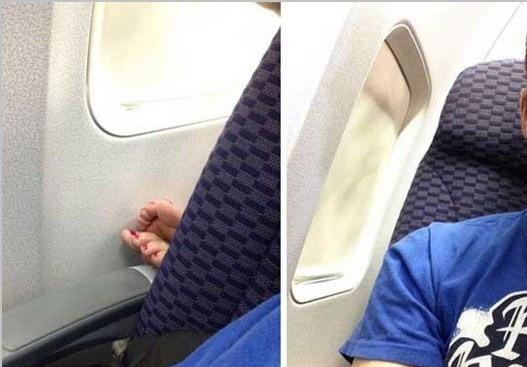 Uçakta bu kareleri görmek şaşırtıyor!