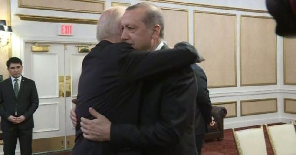 Erdoğan, Biden'le görüştü