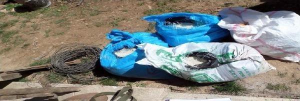 PKK'nın bomba atölyesi olan mağara bulundu