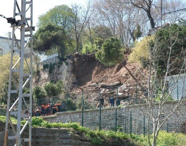 Gülhane Parkı'nda duvar çöktü: 2 ölü