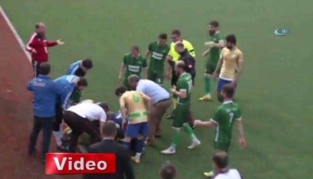 Sahaya atlayan doktor futbolcunun hayatını kurtardı