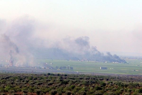 Koalisyon uçakları IŞİD'i bombalıyor