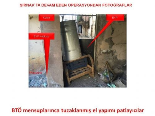 Teröristler, akla gelmeyecek yerlere el yapımı patlayıcı yerleştiriyor