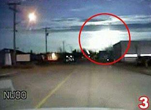Patlama değil, meteor düştü !