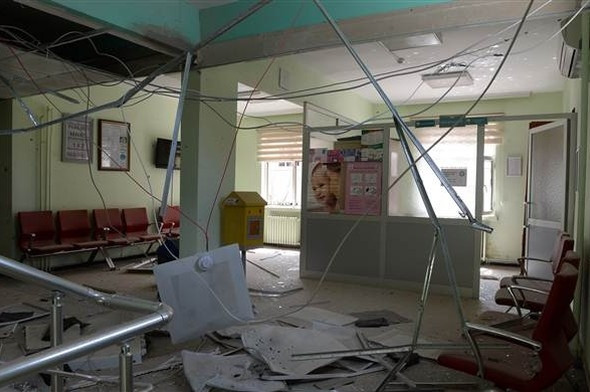 PKK milyonlarca lira harcanan hastaneyi bu hale getirdi