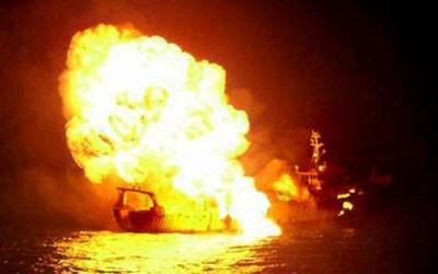 Korsan gemisi böyle batırıldı
