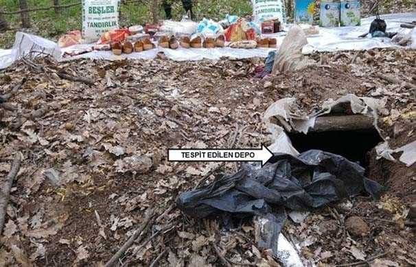 Bingöl'de PKK'nın deposu bulundu