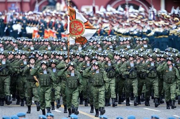 Rusya'da zafer günü böyle kutlandı