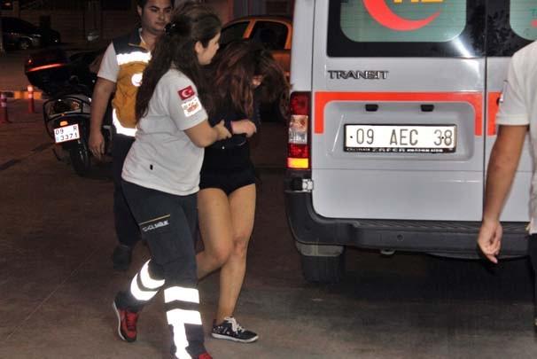 Genç kadını dövüp yarı çıplak sokağa attılar