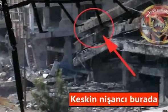 IŞİD keskin nişancısı böyle öldürüldü
