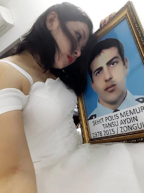 Şehidin Vietnamlı eşi gelinlik giydi