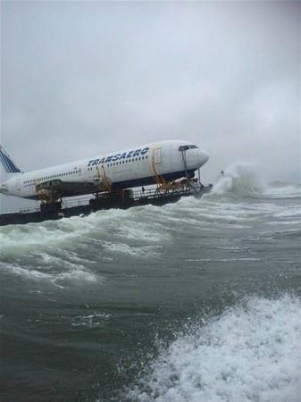 Uçak deniz yolculuğuna çıktı