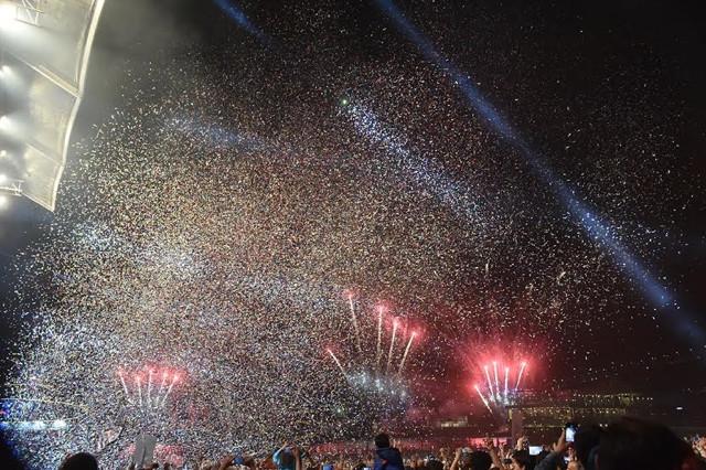Beşiktaş'ta 50 bin genç 19 Mayıs'ı coşkuyla kutladı