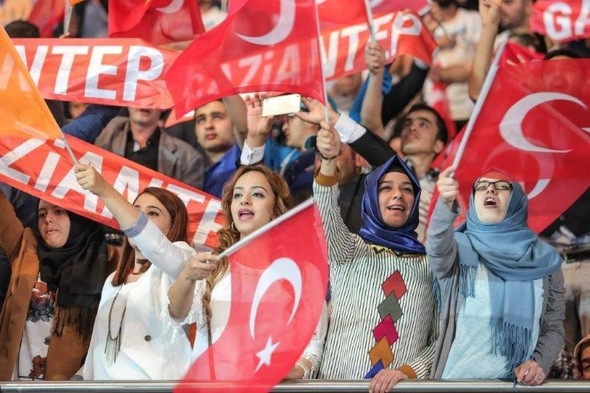 AK Parti kongresinden kareler...