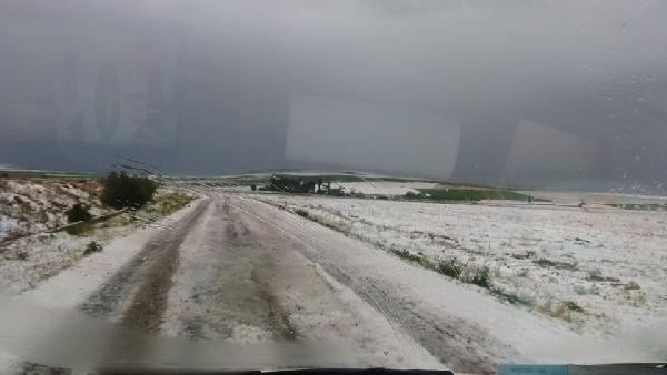Çiftçiyi dolu ve sağanak yağış vurdu