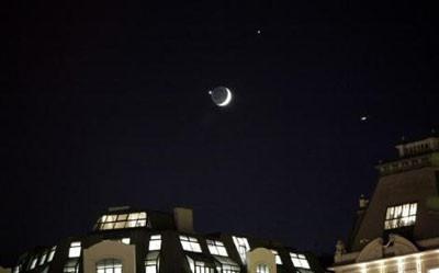 Gökyüzünde Ay-Yıldız şöleni !