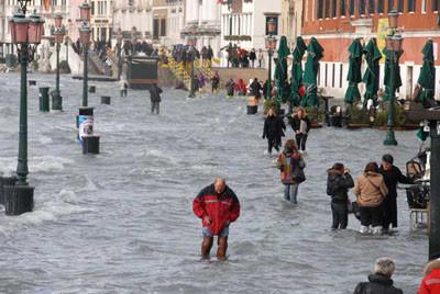 Venedik sular altında !